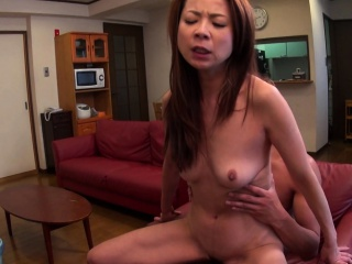 Japanese cleaning lady is ready for dick riding