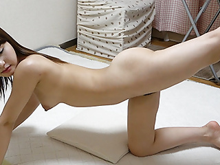 Japanese Girl Nonoka Saki Exercising
