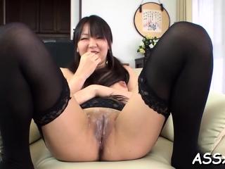 Aroused minx Morita Kurumi getting hard fucked