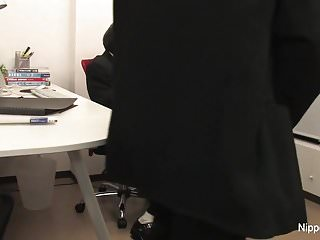 The new office intern gets initiated by sucking cock