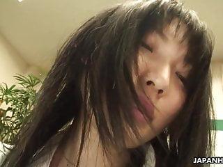 Cute Asian skank sucks then rides the cock